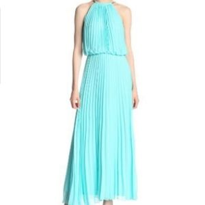 MSK Pleated Blouson Maxi Dress